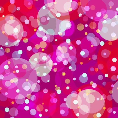 Fun, young and happy background with overlayed bubbles of varying colors and opacity mainly in shades of pink, purple and red. Stock Vector - 12956041