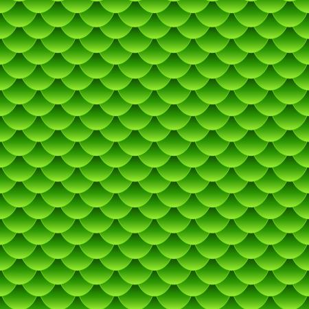 파충류와 유사한 동물의 피부의 패턴을 형성하는 작은 다채로운 녹색 물고기 비늘의 원활한 패턴입니다.