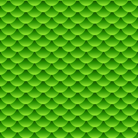 repetition: Seamless pattern of small colorful green fish scales forming a pattern of reptile and similar animal skin.