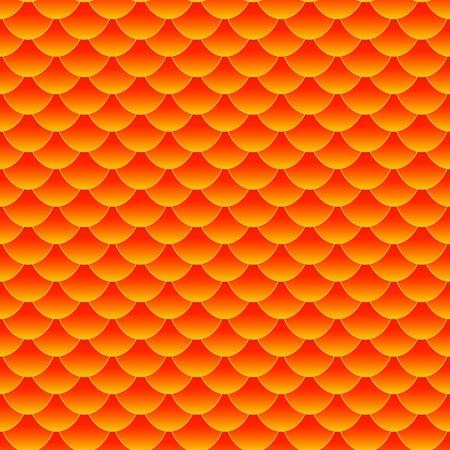 패턴의 반복 패턴, 완벽한 행운 벽지를 형성하는 작은 다채로운 금붕어 나 잉어 물고기 비늘의 원활한 패턴