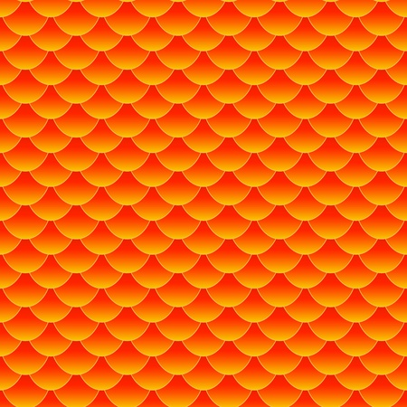 Seamless pattern of small colorful goldfish or koi fish scales forming a pattern repeat pattern, perfect good fortune wallpaper