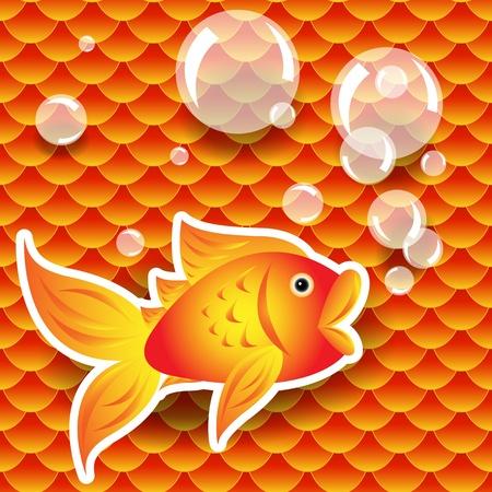 Naadloos patroon van kleine kleurrijke goudvis of koi vis schubben die een herhaling patroon, perfect geluk behang