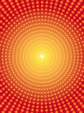 vortex: Vortex background made of spheres and gradients in yellow, orange and red tones.