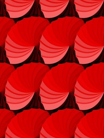 profundidad: Hermosa modelo incons�til abstracta hecha por roseta en rojo degradado tonos de sombras para dar profundidad, muy gr�fico y din�mico papel tapiz o tela. Vectores