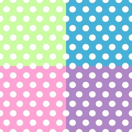 manta de retalhos: Seamless padrão de bonito, divertido e ousado bolinhas brancas padrões mais pontos-de-rosa, roxo, verde e azul esquadra o fundo, podem ser utilizadas separadamente ou em conjunto.