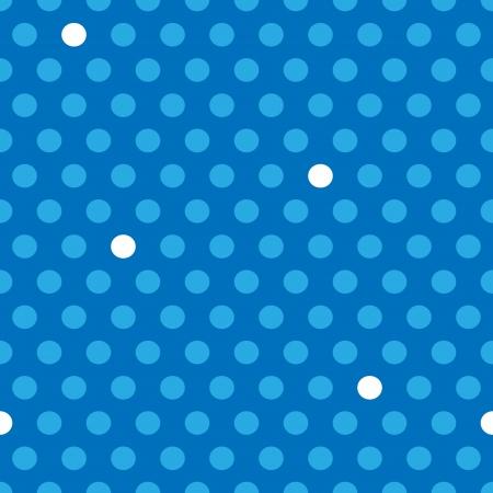 Naadloze: Naadloze patroon van cute, plezier en gewaagde blauwe en witte stippen patronen over donkere blauwe achtergrond, staande buiten concept.