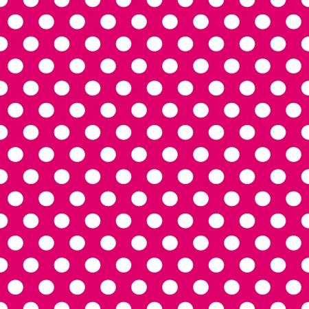 Naadloze: Naadloze patroon van cute, plezier en gewaagde witte stippen patronen over roze achtergrond.