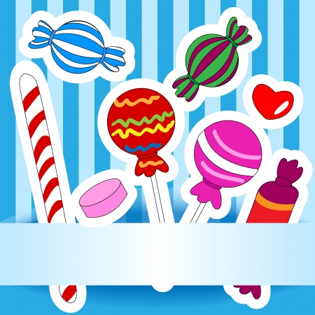 wrap wrapped: Cute and fun hand drawn candy or other sweets, perfect for a kids birthday wish or invitation card.