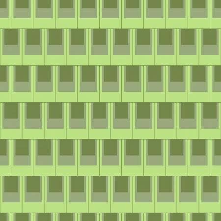 Seamless pattern of green or grey rectangular shape tiles wallpaper  Иллюстрация