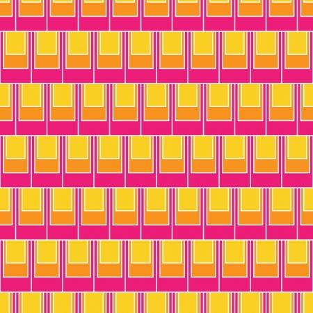 Seamless pattern of colorful rectangular shape tiles fun repeat wallpaper pattern