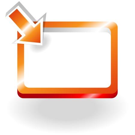 sign orange: Orange metallic round corner rectangle frame