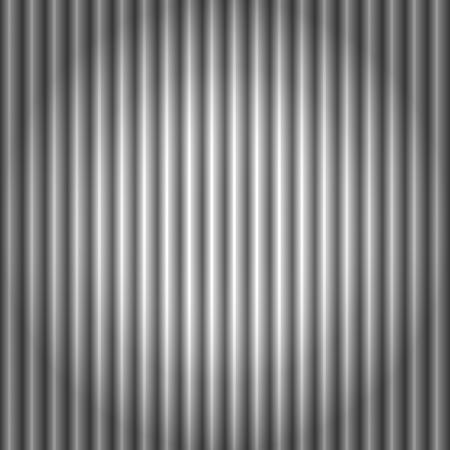 Seamless pattern of cool metallic silver or grey corrugated metal background