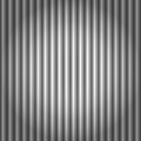 Seamless pattern of cool metallic silver or grey corrugated metal background