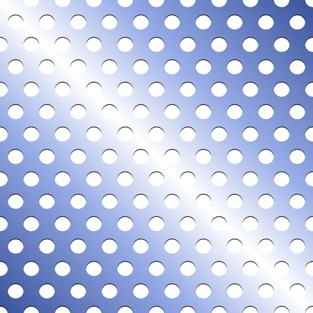 grid pattern: Seamless pattern of light blue metallic grid with circular holes