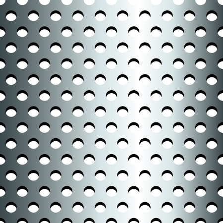 polka dots: Seamless pattern of grey steel Illustration