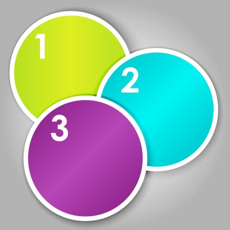 Set 3 of colorful round label or stickers Stock Vector - 15769618