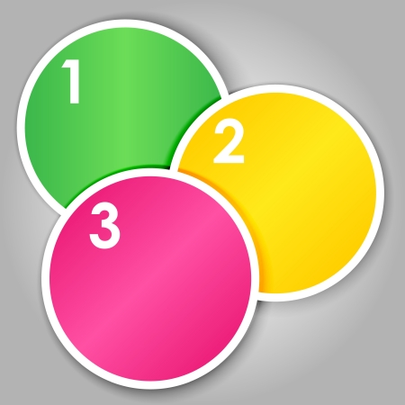 Set 2 of colorful round label or stickers Stock Vector - 15779707