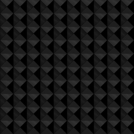 profundidad: Modelo incons�til hecho de alivio o en relieve tri�ngulos geom�tricos en formaci�n cuadrada, con los tonos negro y gris oscuro con brillo met�lico, d�ndole profundidad.