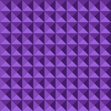profundidad: Modelo incons�til hecho de alivio o en relieve tri�ngulos geom�tricos en formaci�n cuadrada, con los tonos morados que le da profundidad