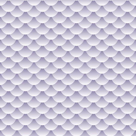 Seamless pattern of grey, lavender to white tones fish scales forming a textured repeat pattern, perfect wallpaper and other background or backdrop. Vector