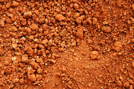 Tropical laterite soil or red earth background. Stock Photo - 18234970