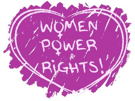 civil rights: Original grunge women power and women rights symbol  Illustration