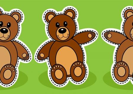 Cute seamless teady bear background  Stock Vector - 18797616