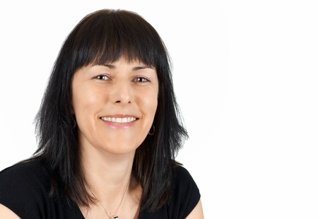 Portrait of smiling middle aged woman         Standard-Bild