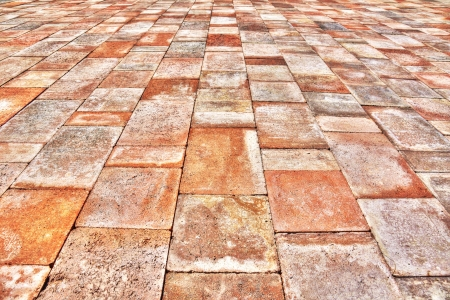 terra: terra cotta paver or tile perspective background