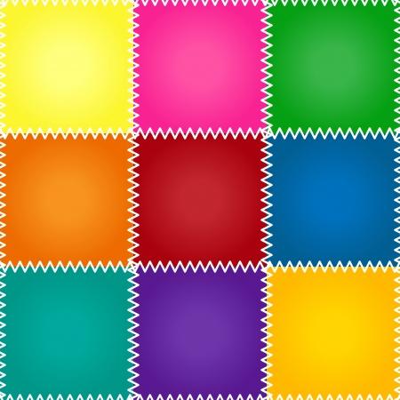 ステッチでシームレスなカラフルな patchework またはキルト パターン