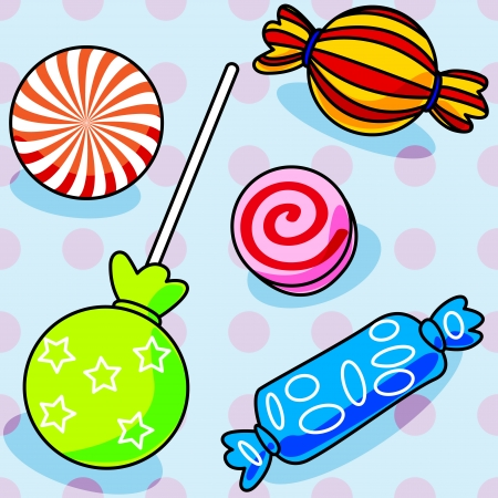 wrap wrapped: Fun seamless candy pattern with polka dots