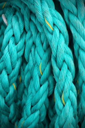mooring: Close up of mooring rope or ship cable, great texture and details.