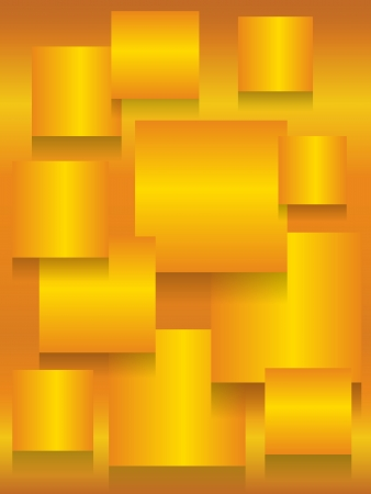 Fun metallic gold background with square boards and shadows for depth.