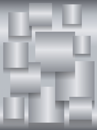 steel: Fun metallic stainless steel background with square boards and shadows for depth