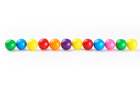 gumballs: Colorful gumballs border over white background