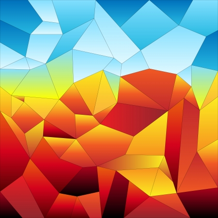 futuristic: Mosaic tiles background, colorful futuristic landscape