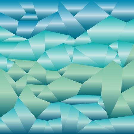 blue metallic background: Metallic mosaic tiles in blue green shades, background Illustration