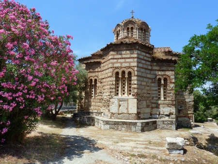 Small abandoned temple, Greek orthodox ruin photo
