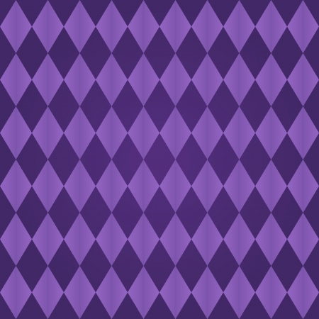lozenge: Seamless harlequin or argyle pattern made of two tones of purple Illustration