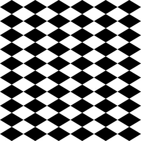 Seamless harlequin or argyle pattern made of black diamonds over white  Illustration
