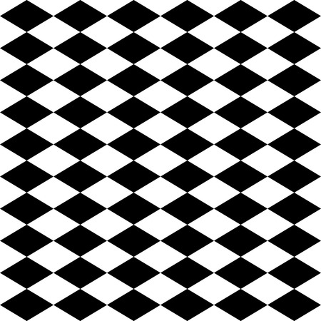 Seamless harlequin or argyle pattern made of black diamonds over white  Illustration