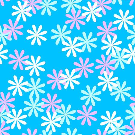 papel tapiz turquesa: Diversión sin flor o el estampado de flores en azul Vectores