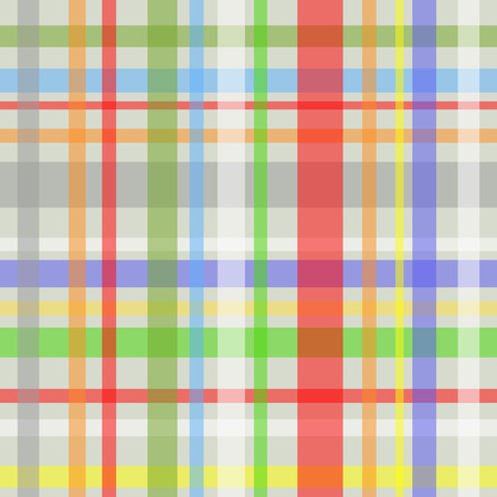 gingham pattern: Seamless plaid or gingham pattern, multicolor stripes over grey