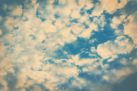 Cloudy sky with color filters, perfect background Stock Photo