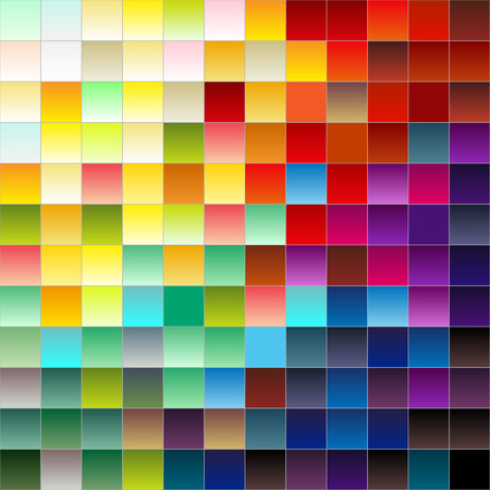 GRADIANT: Colorful squares or pixels from light to dark,gradiant colors Illustration