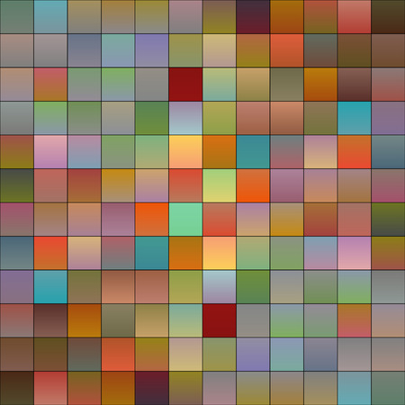 Colorful squares or pixels from light to dark,gradiant colors Illustration