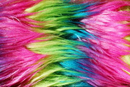 faux: Fibra di nylon colorato o finto sfondo di pelliccia