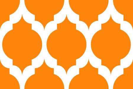 オレンジと白でシームレスなモダンなパターン  イラスト・ベクター素材
