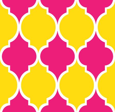 ピンク、黄色、白のシームレスなモダンなパターン