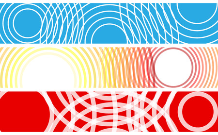 Choice of banners made with circles with copy space